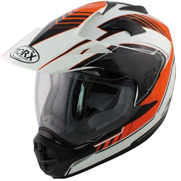 Casque Moto integral Torx Darryl - Orange