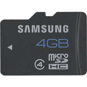 Carte mémoire Samsung micro SD 4 Go Classe 4 (via Buyster)
