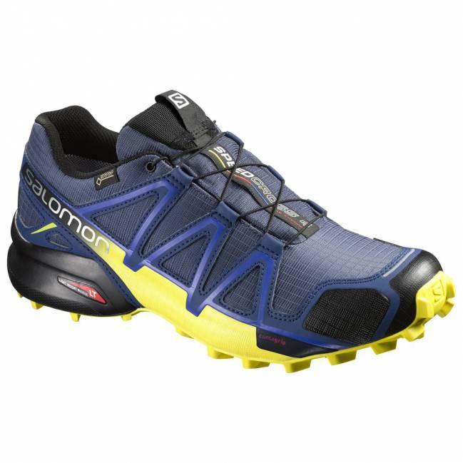 Chaussures de Trail Salomon Speedcross 4 GTX (Bleu/jaune)