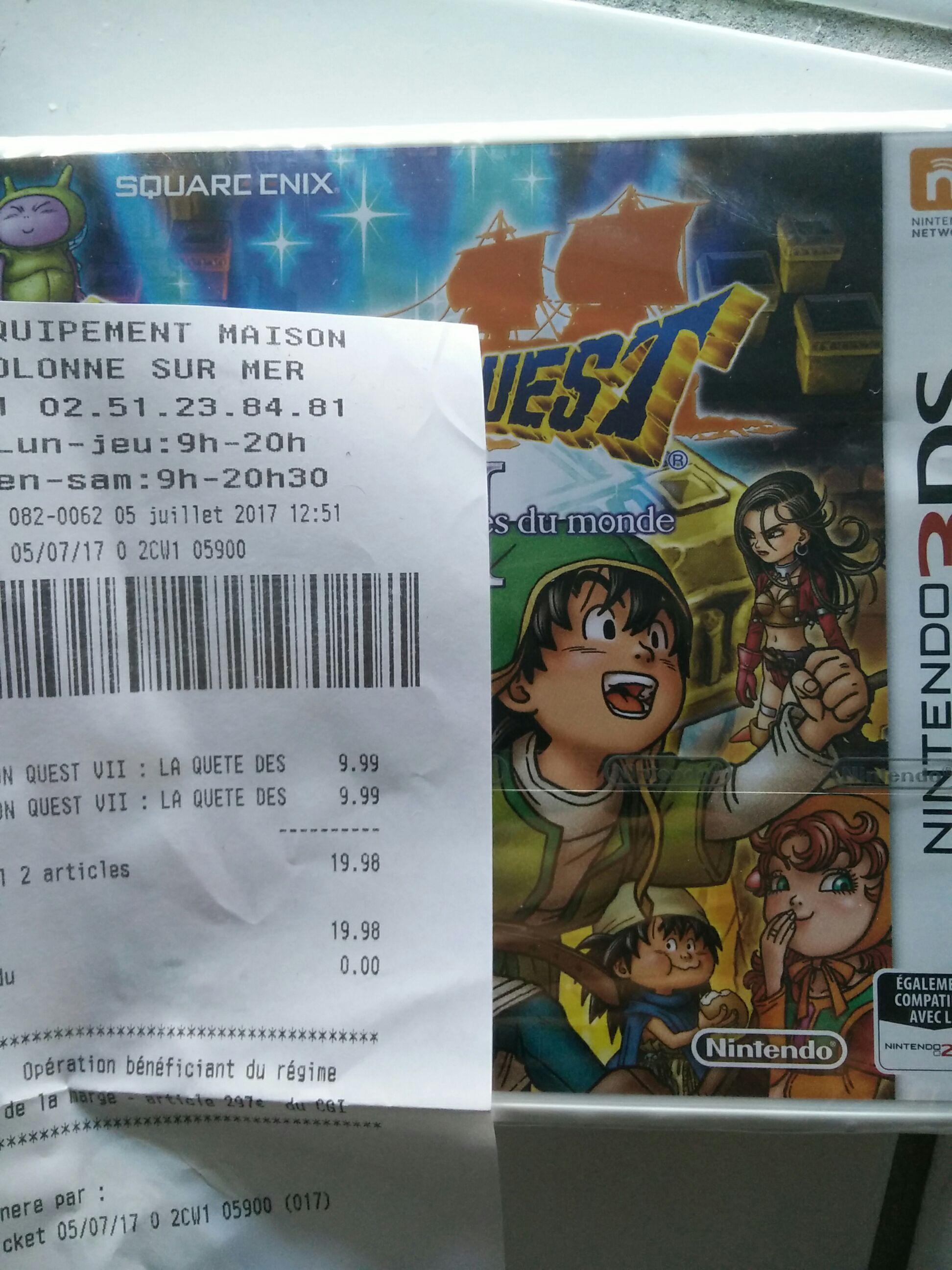Jeu Dragon Quest VII sur Nintendo 3DS