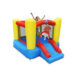 Aire de jeux château gonflable avec toboggan