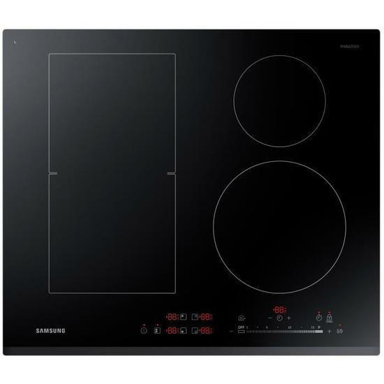 Plaque de cuisson à induction Samsung NZ64K5747BK - 60x52 cm, 4 zones, 7200 W (via ODR de 50€)