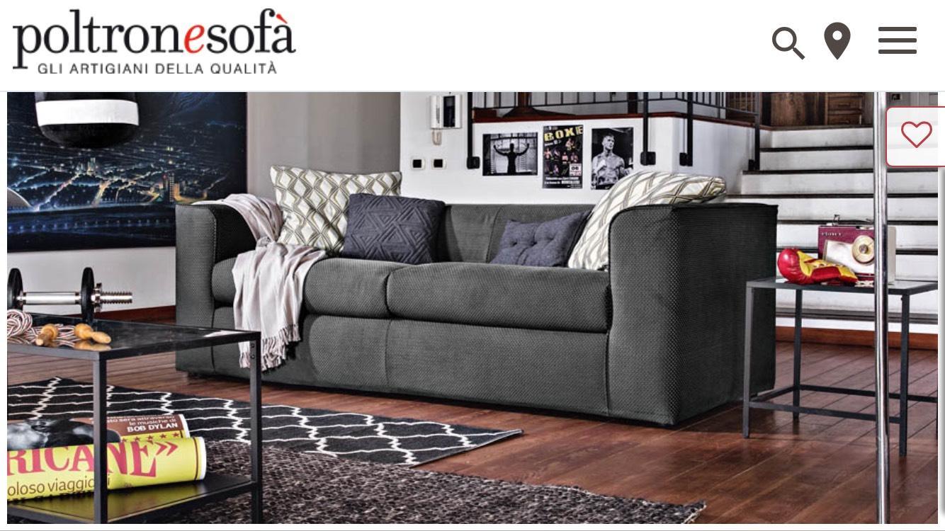 Canapé 3 places en tissu Zolara - 205x90x65cm