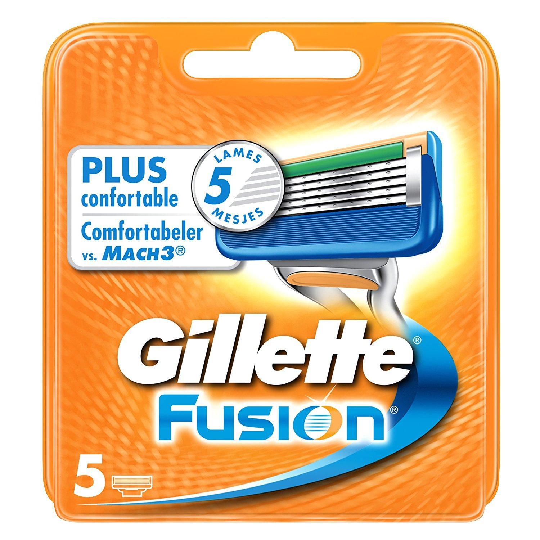 Lot de 5 Lames de Rasoir Gillette Fusion pour Hommes