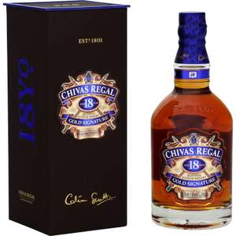 Whisky Blended Scotch Whisky 18 ans d'âge Chivas (via 20.75€ sur la carte)