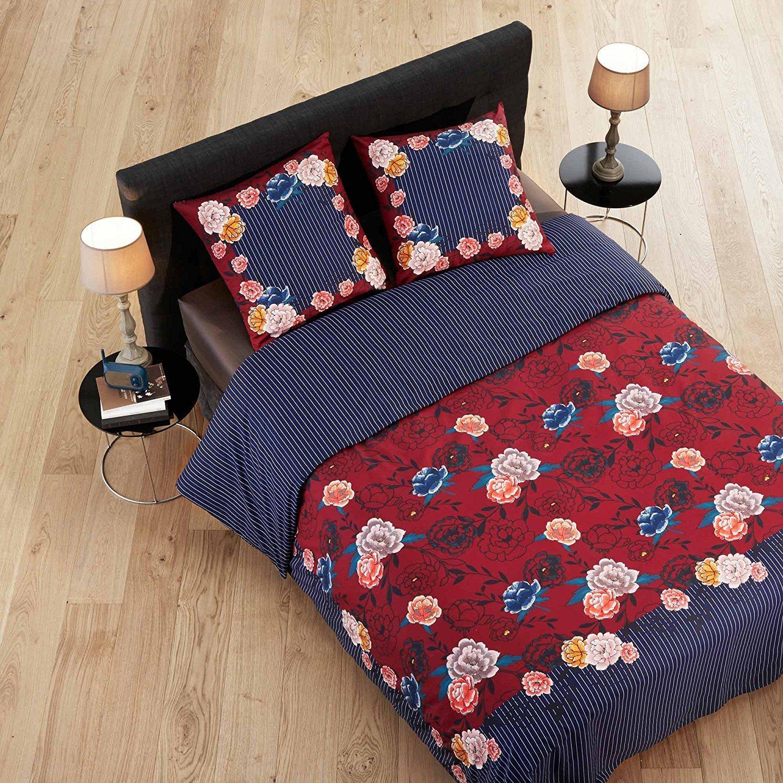 [Panier Plus] Parure de lit Paul & Joe by Madura bleu / rouge - housse de couette (260x240) + 2 taies d'oreillers (62x62)