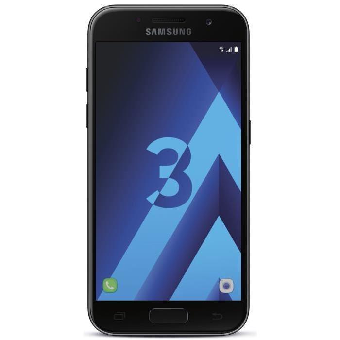 """Smartphone 4.7"""" Samsung Galaxy A3 (2017) - 2 Go de RAM, 16 Go ROM, différents coloris (via ODR de 30€)"""