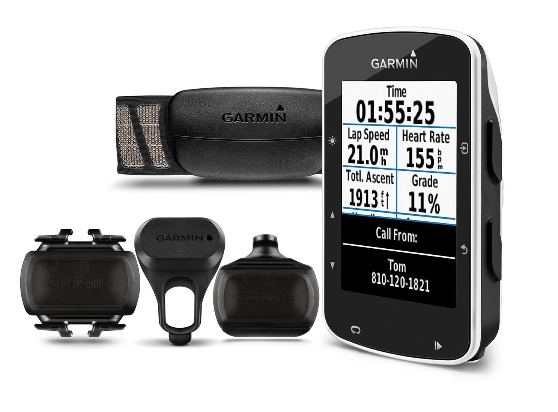 Pack GPS Vélo Garmin Edge 520 avec moniteur de fréquence cardiaque