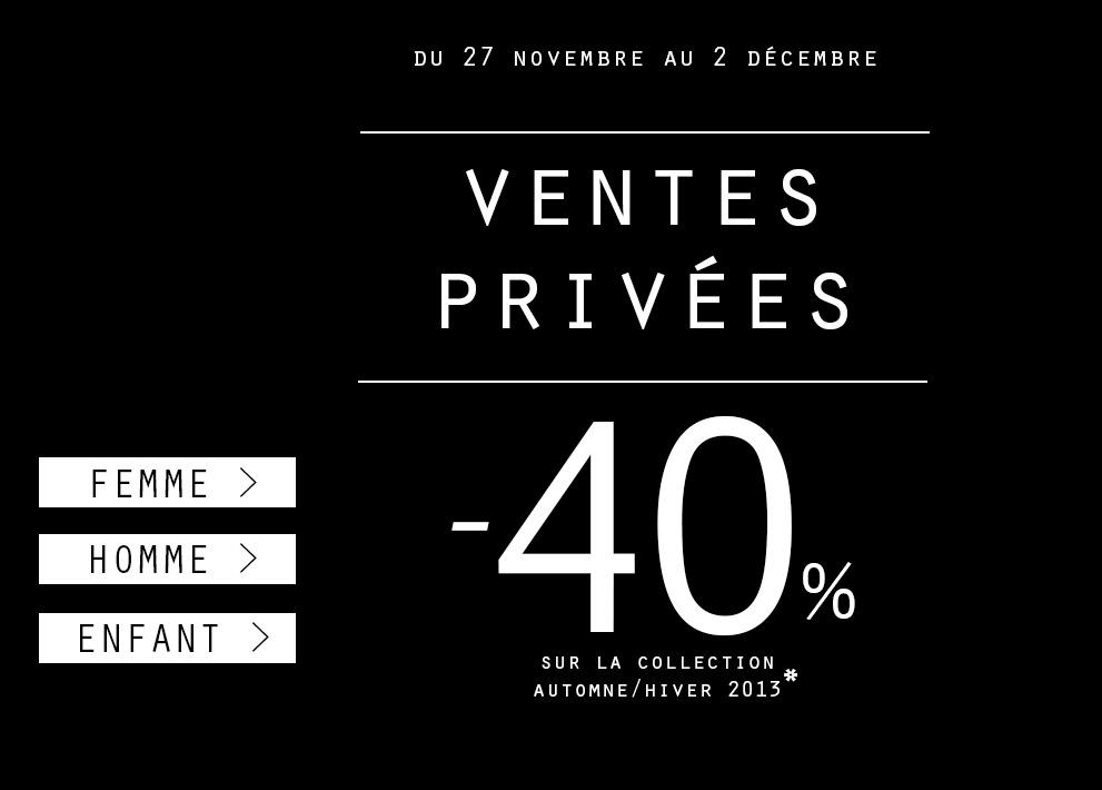 Ventes privées : -40% sur la collection Automne-Hiver