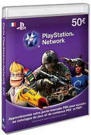 Carte Playstation Network d'une valeur de 50€ / Via Buyster à 35€, sinon