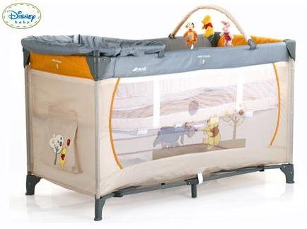 Lit bébé Winnie 3 en 1 (Lit parapluie, table à langer, espace de jeux)