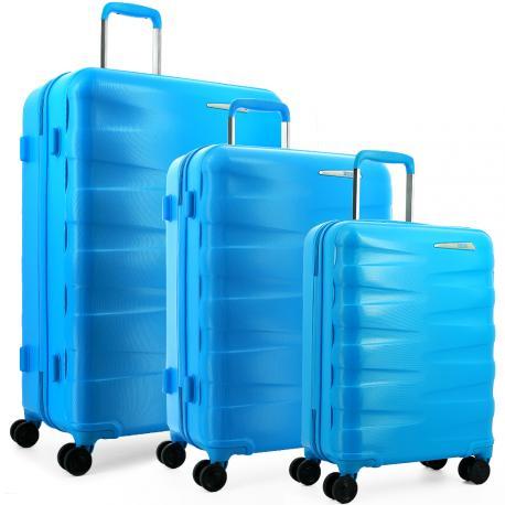 Lot de 3 valises Tekmi Rio - Polycarbonate, Plusieurs coloris