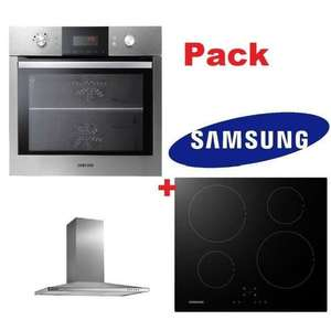 Pack Samsung: Hotte NK36M5070BS + Plaque induction NZ64K5747BK + Four NV66M3531BSEF (avec ODR 100€)