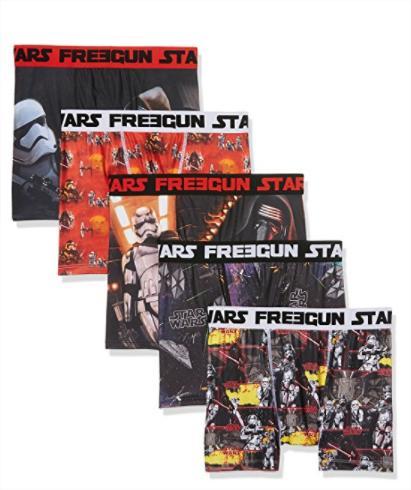 Lot 5 boxers Freegun Star Wars ou Justice League