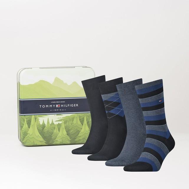 Lot de 4 paires de chaussettes Tommy Hilfiger, Bleu marine