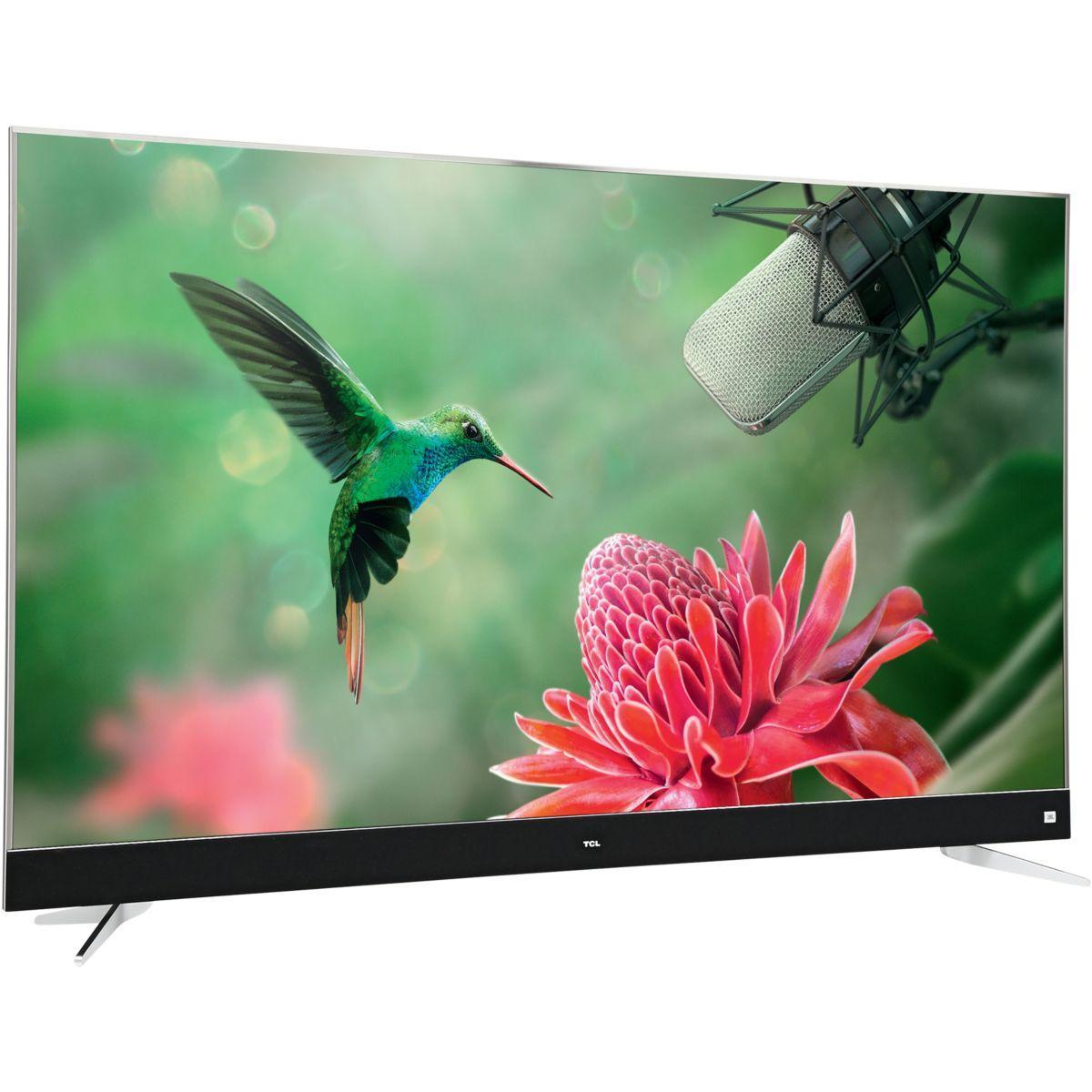 """TV 55"""" TCL U55C7006 - 4K UHD, HDR, 100Hz, Android TV + Système audio JBL  + Télécommande Vocale TCL RC602S (via ODR de 300€)"""