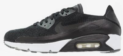 Sélection de Baskets Nike en Promotion pour Hommes - Ex:  Sportswear Air Max 90 Ultra 2.0 FLYKNIT Noir / Blanc (Tailles au choix)