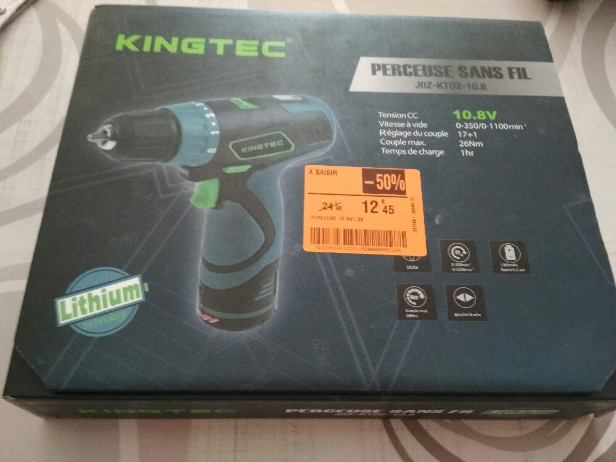 Perceuse sans fil Kingtec JOZ-KT02-10.8 - 10.8V