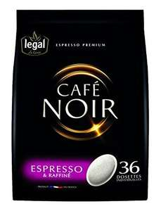 2 Pack de 36 dosettes Legal café noir espresso