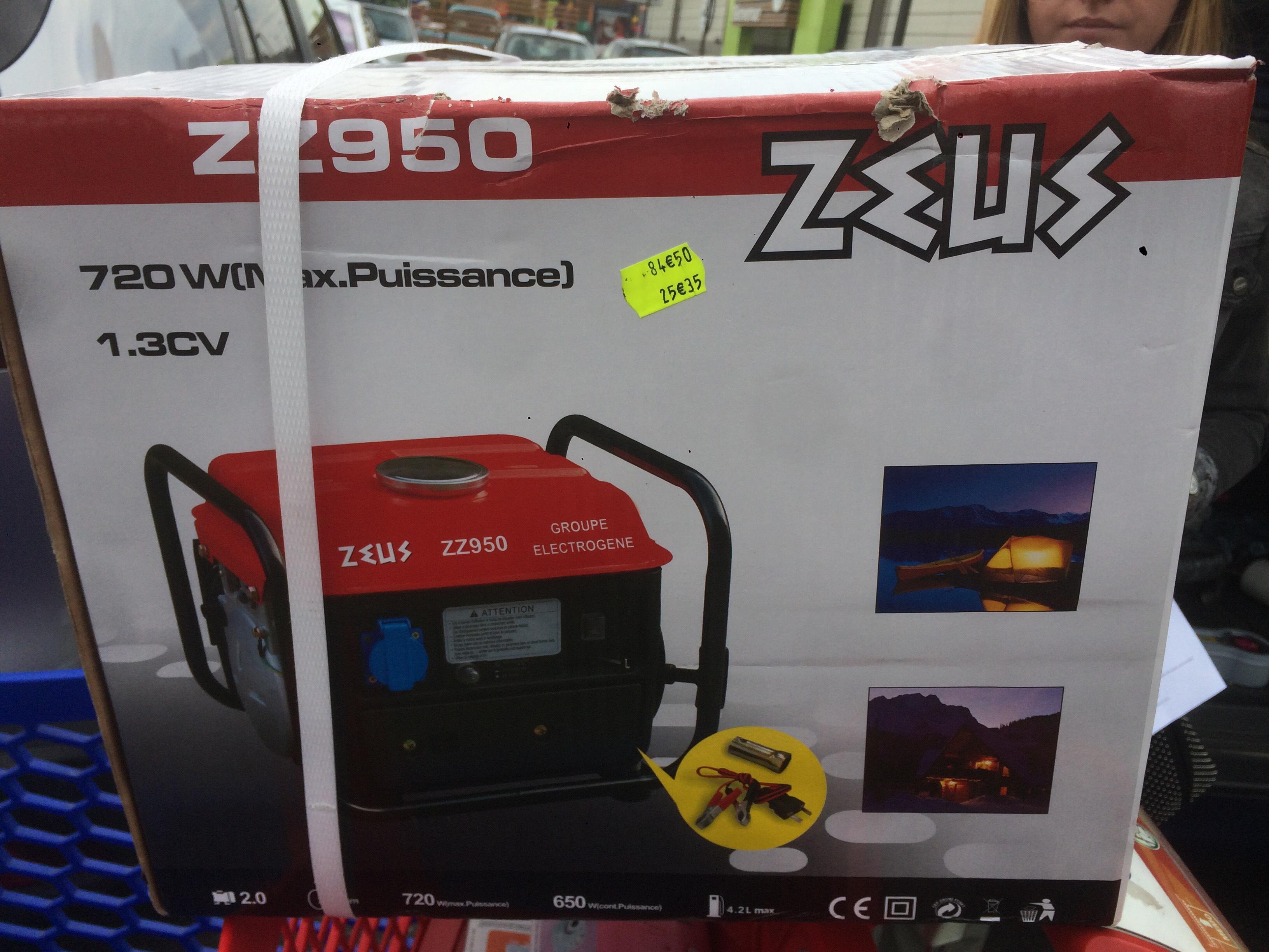 Groupe électrogène 2 Temps Zeus - 720W ZZ950