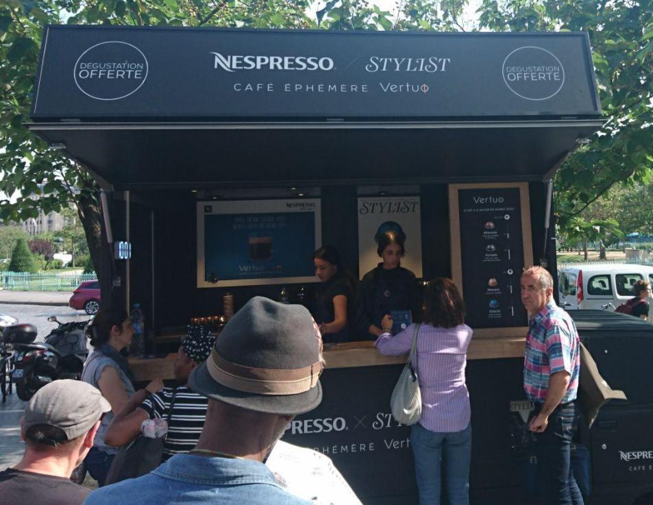 Dégustation gratuite de café Nespresso Vertuo