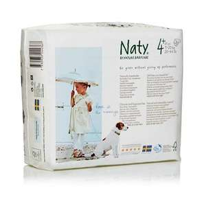 Pack 13 x 25 - Couches Bio NATY - T4+ (9 à 20kgs)