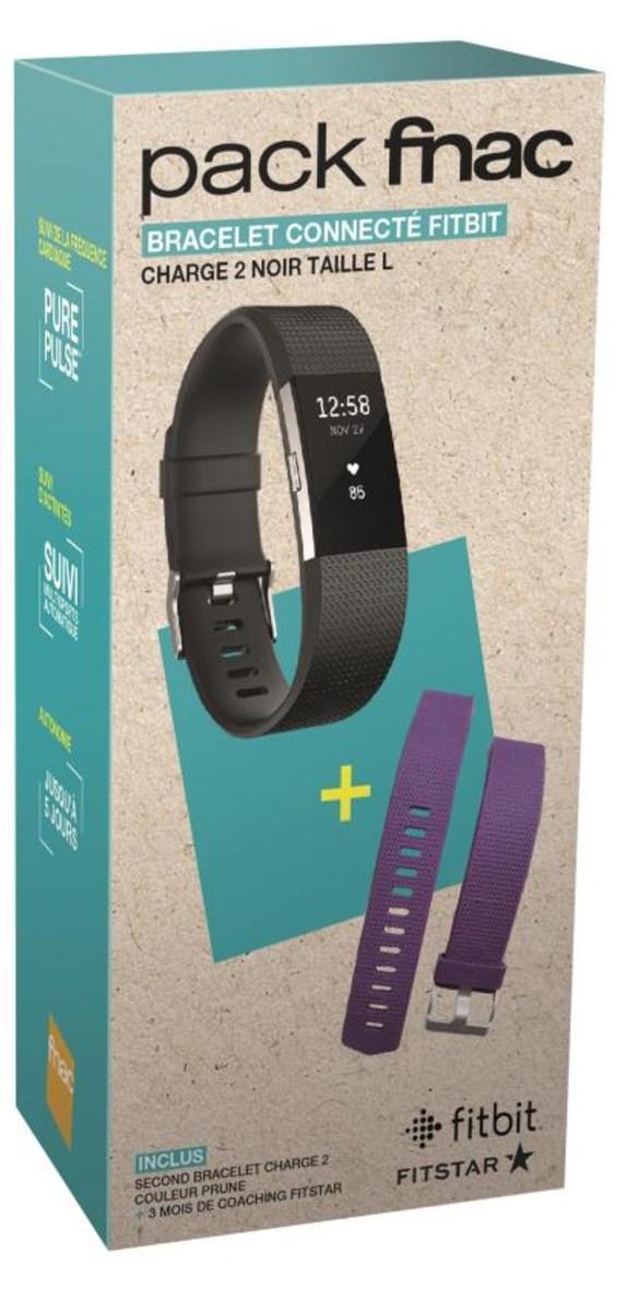 Bracelet connecté Fitbit charge 2 - Taille L + 1 bracelet