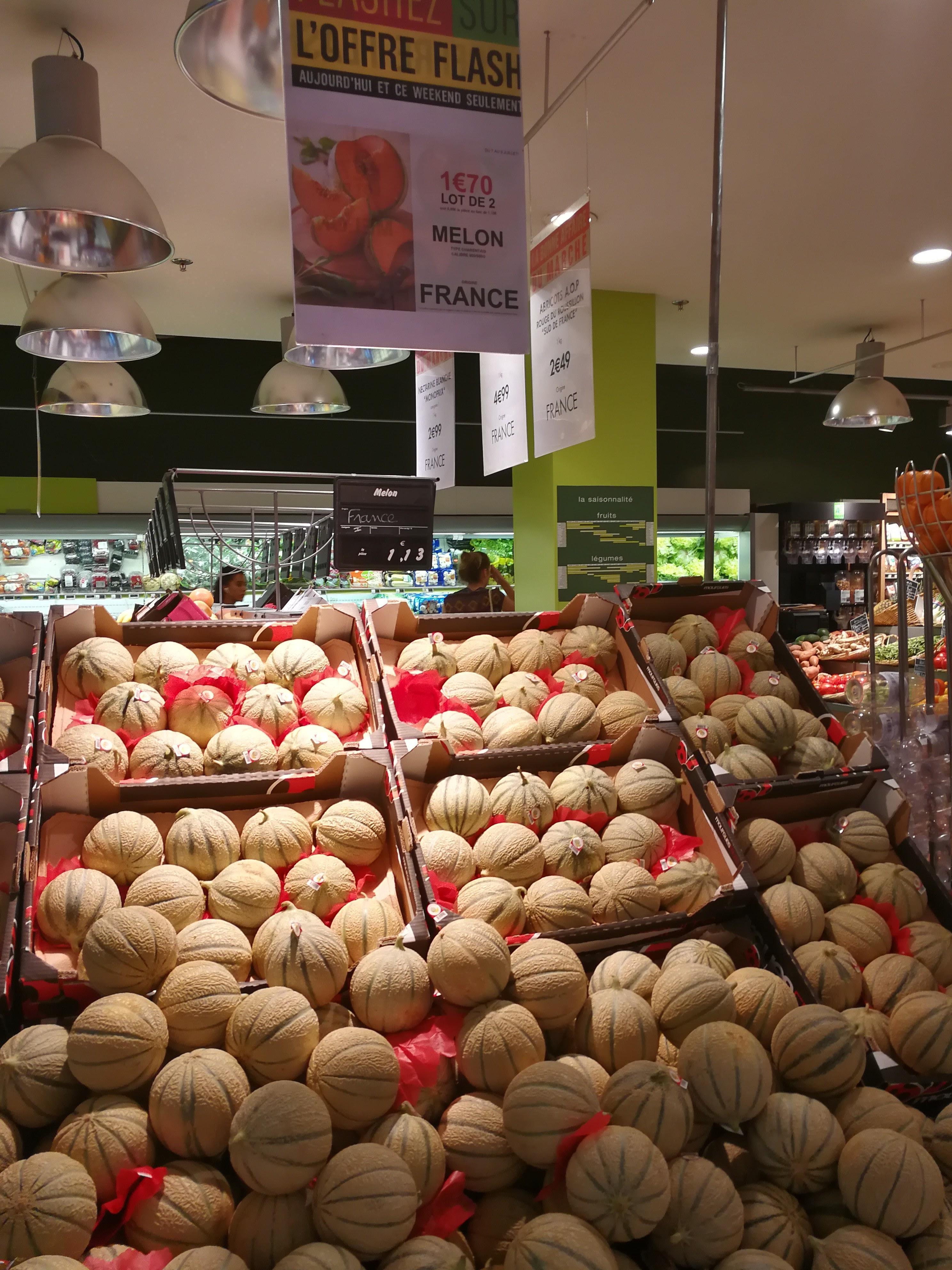 Lot de 2 melons Charentais - 800 / 950 g