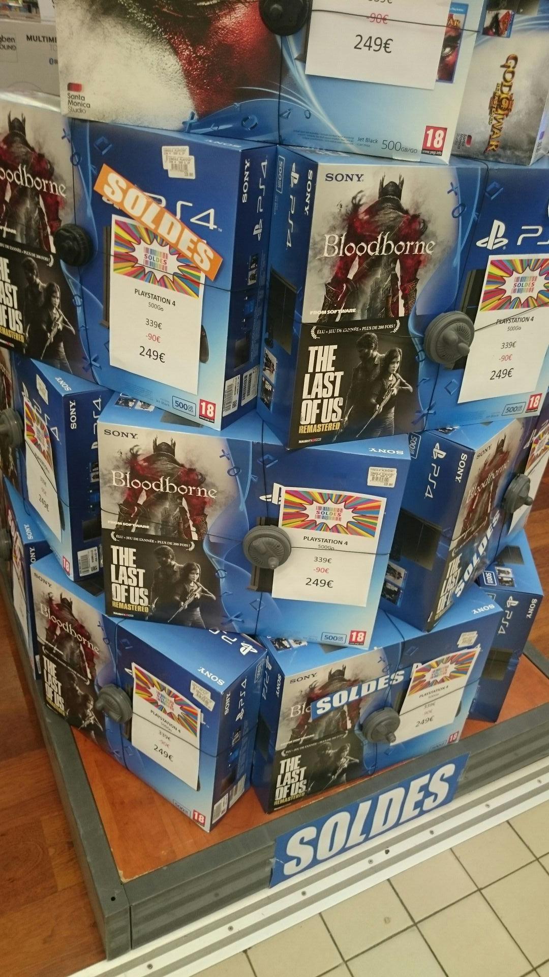 Sélection de packs Sony PS4 en soldes - Ex : Console Sony PS4 + Bloodborne + Last of Us