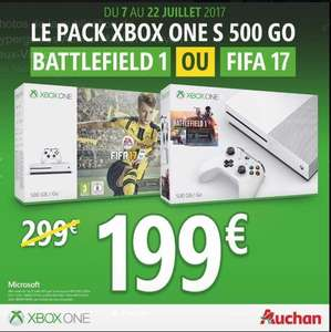 Pack Console Xbox One S (Blanc) - 500  Go + Fifa 17 ou Battlefield 1