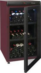 Cave à vin Climadiff CVV-142 B - 2 clayettes, 142 bouteilles, rouge