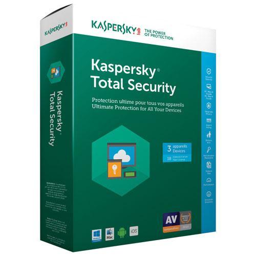 Licence de 2 ans à l'antivirus Kaspersky Total Security 2017 (1 appareil, dématérialisé)