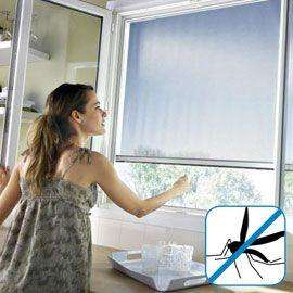 Moustiquaire de fenêtre Geom Protek - en aluminium, 125x170 cm, blanc