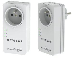 Pack de 2 Adaptateurs CPL Netgear XAVB5401-100FRS 500 Mbit/s