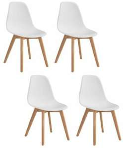 Lot 4 chaises scandinaves Sacha