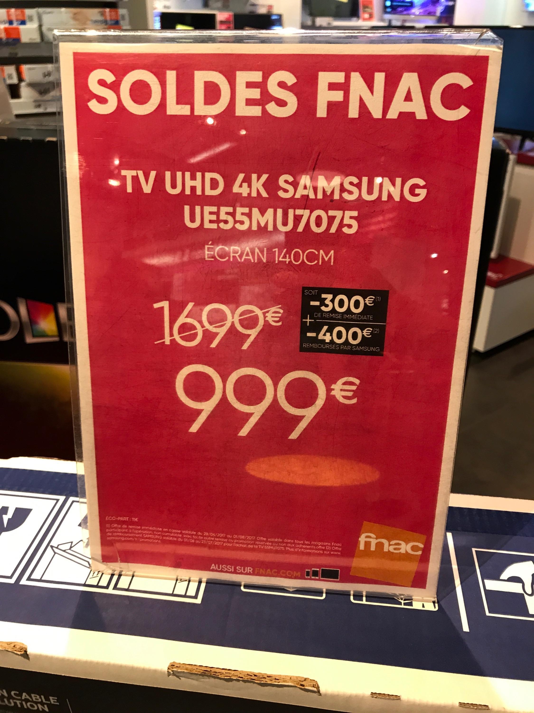 """TV 55"""" Samsung UE55MU7075 - UHD 4K (via ODR de 400€)"""