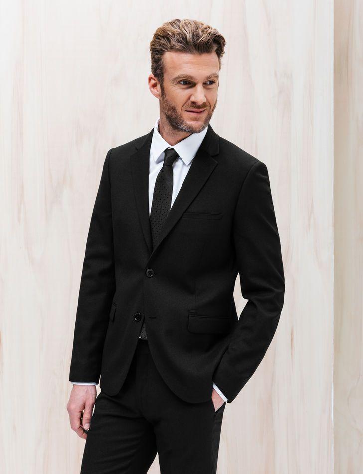 Veste de costume homme - Effet natté, Noir