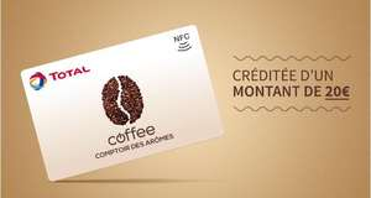Carte coffee Total créditée d'un montant de 20€