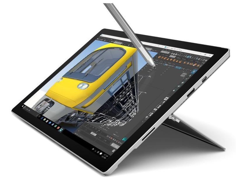 "Tablette 12,3"" Microsoft Surface Pro 4 - i5-6300U, 8 Go RAM, 256 Go SSD + Stylet surface inclus"
