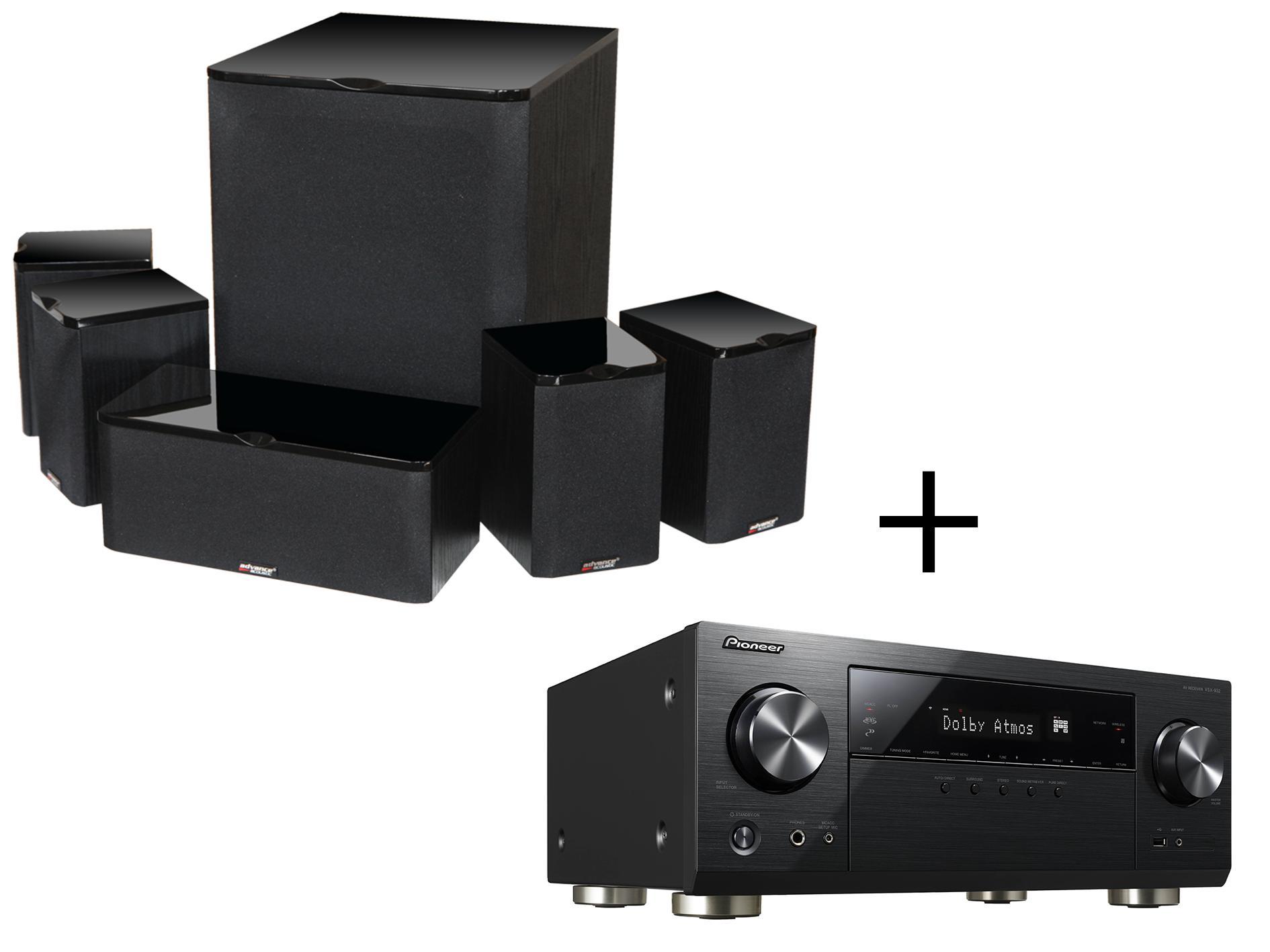Pack paire d'enceintes Home-Cinéma Advance Acoustic MAV 502 + Amplificateur Pioneer VSX932