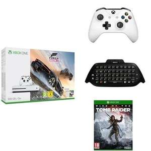 [Prime] Sélection d'articles en promotion - Ex : pack console Microsoft Xbox One S (500 Go) + 2ème manette + clavier pour manette Messenger + Forza Horizon 3 + Rise of the Tomb Raider