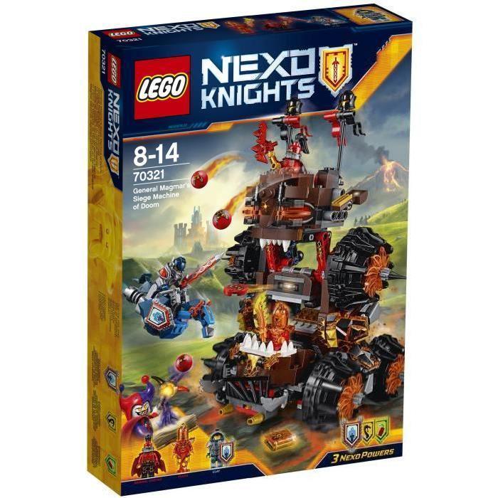 Jouet Lego Nexo Knights - La machine maudite du Général Magmar - 70321