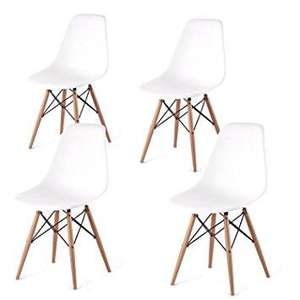 lot de 4 chaises scandinaves blanc mmilo - Chaises Scandinave