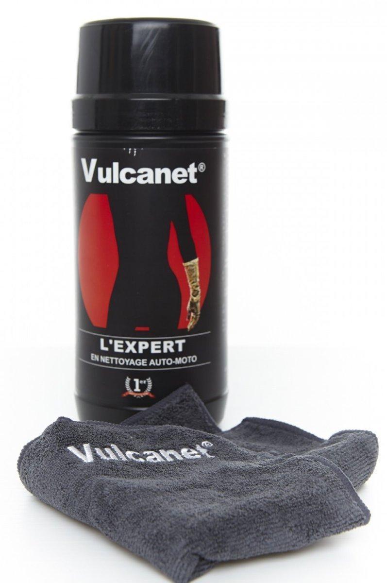 Paquet de 80 lingettes pour nettoyage auto / moto Vulcanet + chiffon en microfibres