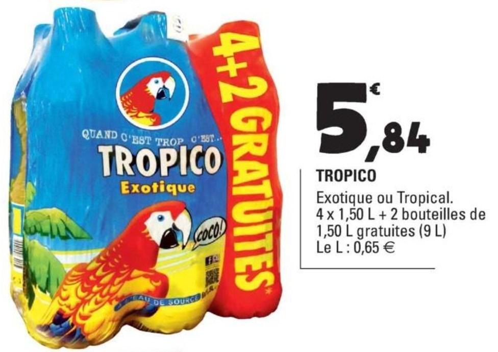 Pack de 6 bouteilles de Tropico Exotique ou Tropical - 1.5L