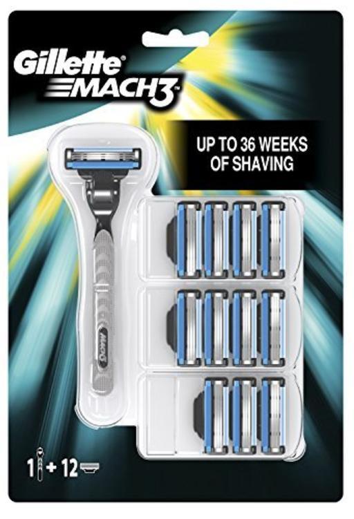 Rasoir Homme Gillette Mach3 avec 12 Recharges