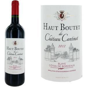 Bouteille de Vin Rouge  Château Haut Boutet de Ch Cantinot Blaye Côte de Bordeaux - Millésime 2012