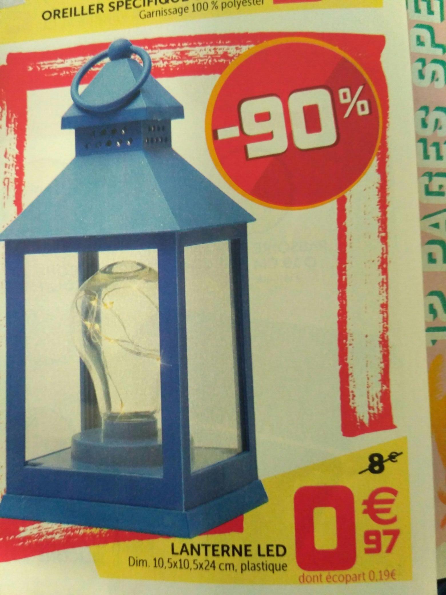 Lanterne LED en plastique