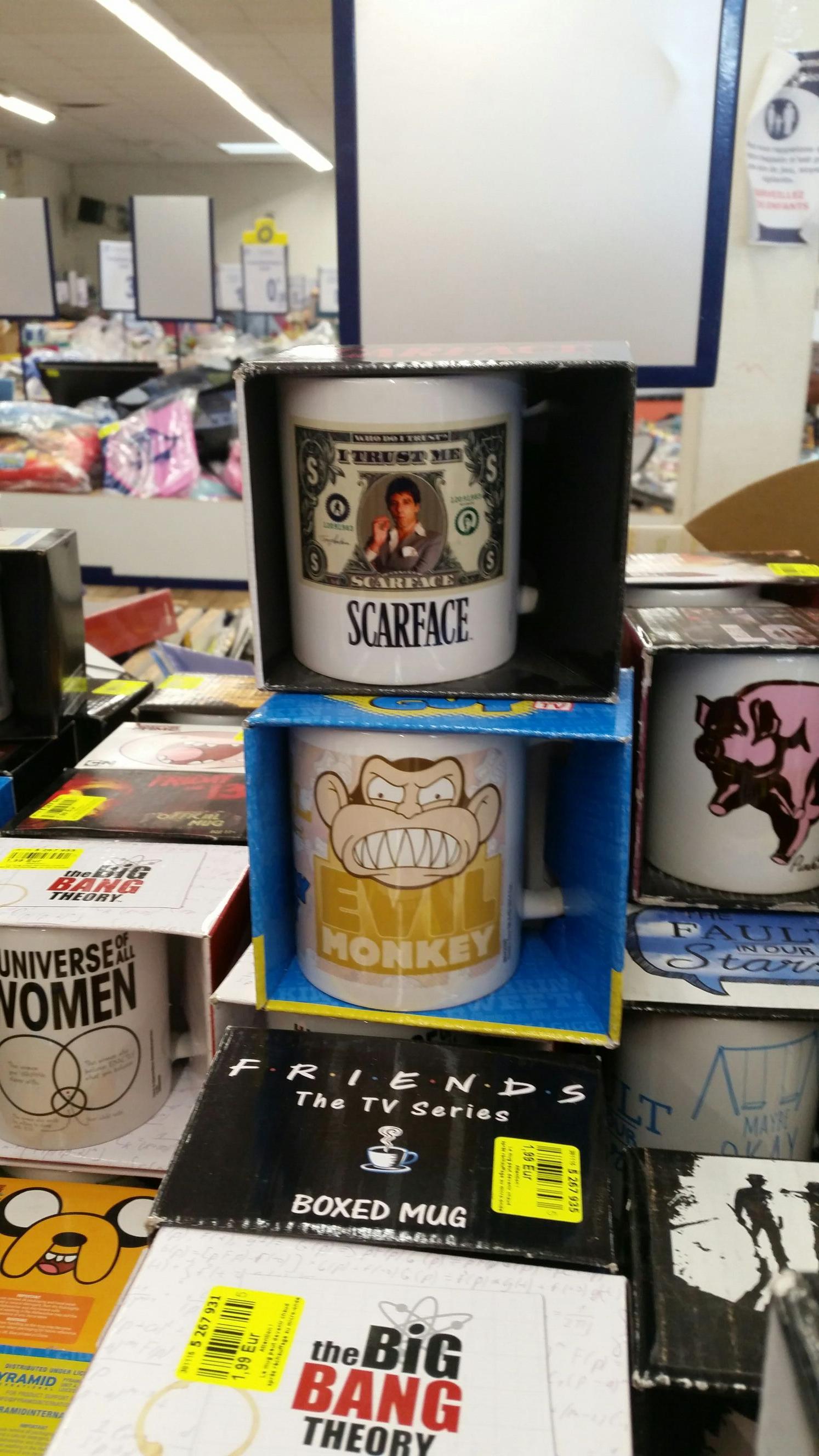 Sélection de mugs en promotion - Ex : Scarface