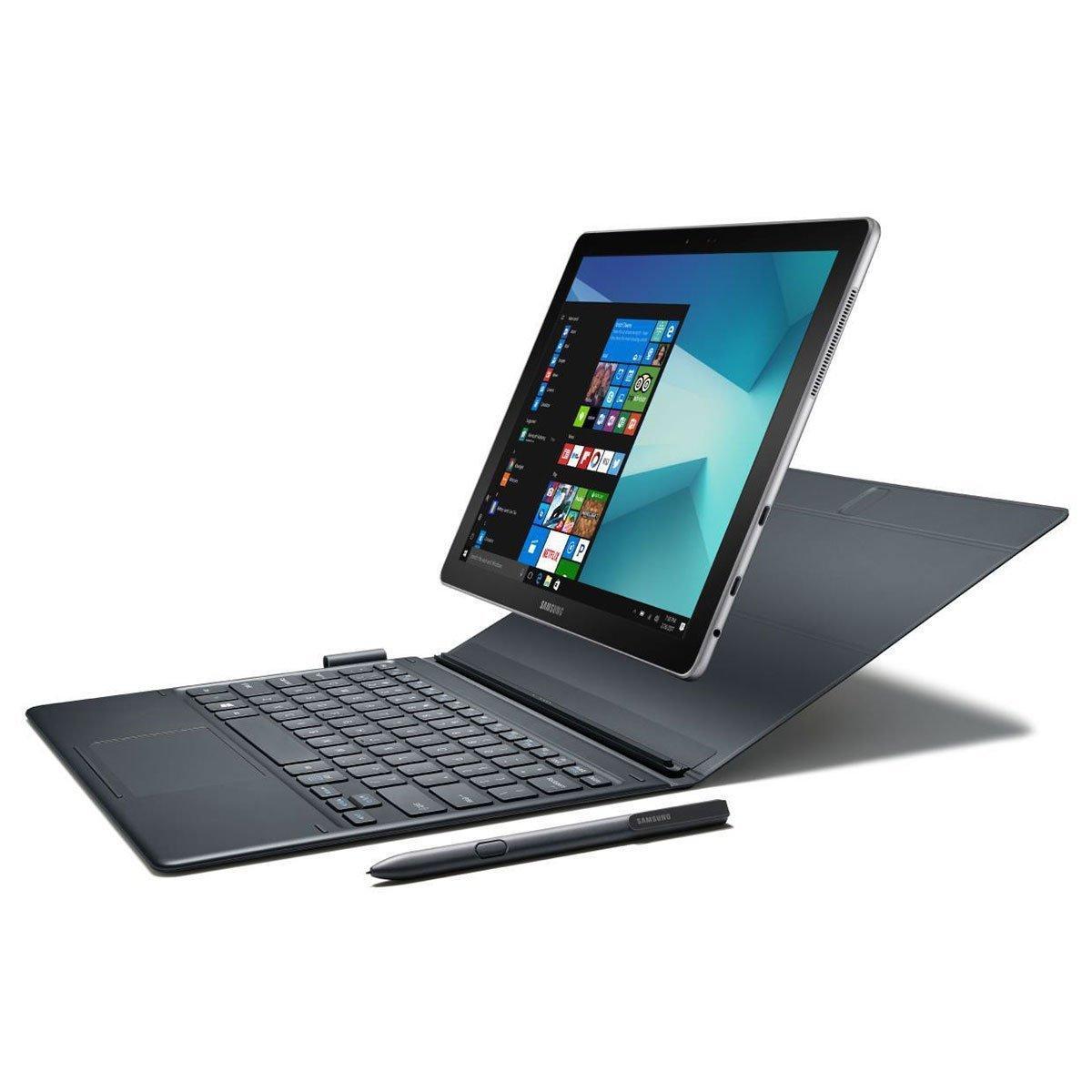 """[Prime] Tablette tactile 10.6"""" Samsung Galaxy Book - M3-7Y30, 4 Go de Ram, 64 Go SSD avec Stylet et Housse clavier"""